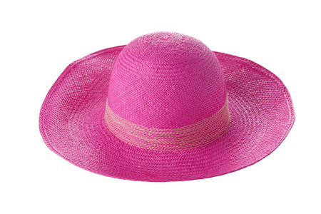pink hat: Pink hat isolated on white background