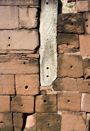 phra nakhon si ayutthaya: Old brick wall at Phra Nakhon Si Ayutthaya