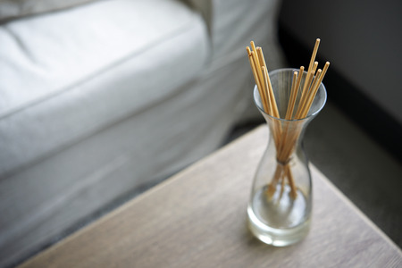 air diffuser: Scent sticks aromatic in jar on table