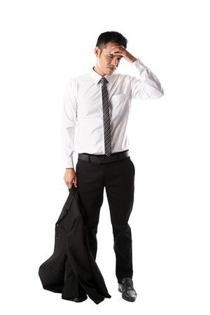 Asian businessman headache Фото со стока
