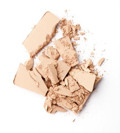 face powder: Cracked Face powder on background Stock Photo
