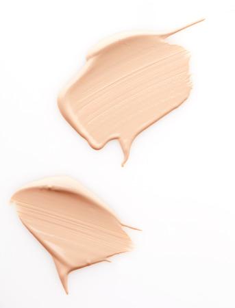 Make up base paint on white background