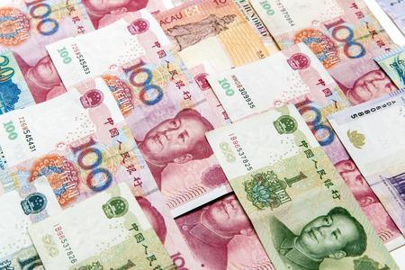 China, Macao and hong kong money bills background Фото со стока