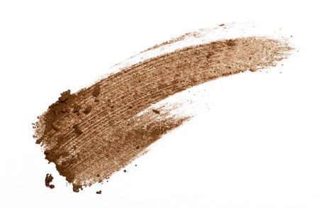 ojos marrones: Cejas color del trazo de sombra de ojos en el fondo