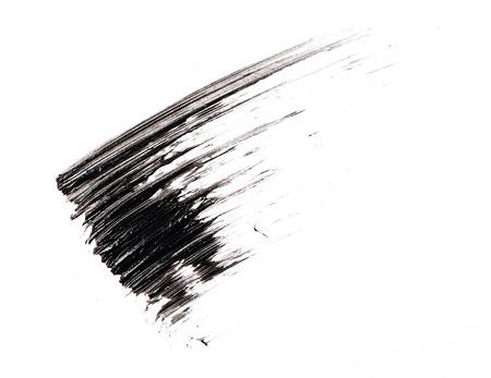 Mascara brush stroke on background