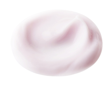 color hair: Pink color hair care cream on background