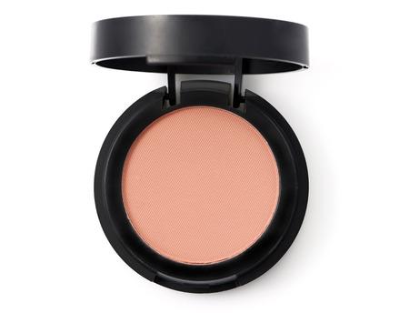 tratamientos corporales: Color de rosa maquillaje en polvo en un recipiente redondo Foto de archivo