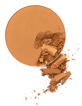 applicator: Face make up powder cracked  in round shape container
