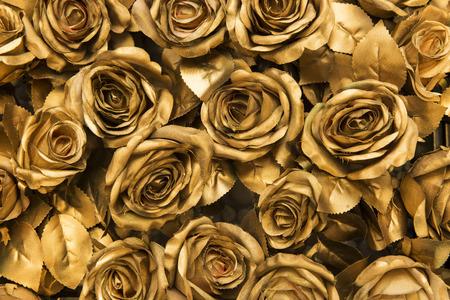 黄金の布のバラ背景 写真素材