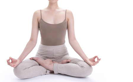 meditaion: Body of woman in meditaion post