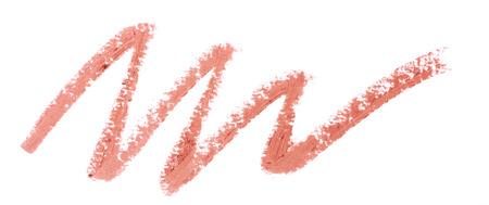 nudo integrale: Rossetto rosso colore del tratto su sfondo