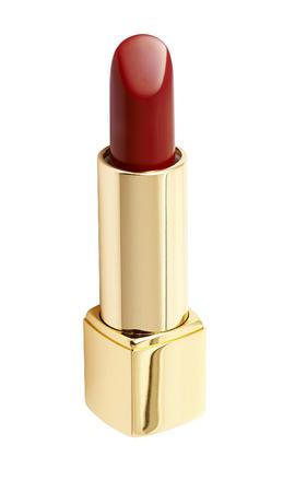 lipstick tube: Red lipstick on white background Stock Photo