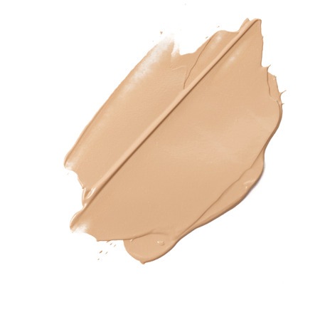 Make up base paint in abstract shape on background