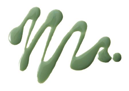 vanish: Green color nail vanish in abstract shape Stock Photo