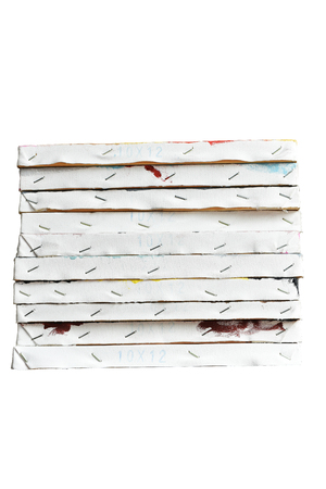 stacked: canvas,stacked,frame,paint,art Stock Photo