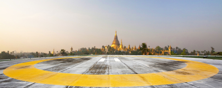 helipad: Helipad on Shwedagon pagoda,Yangong