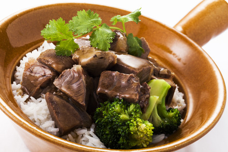 Chinese beef stew with rice,close up Фото со стока - 60630622