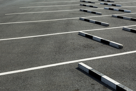 slot car track: Empty parking lot,The concrete boundary for safety parking