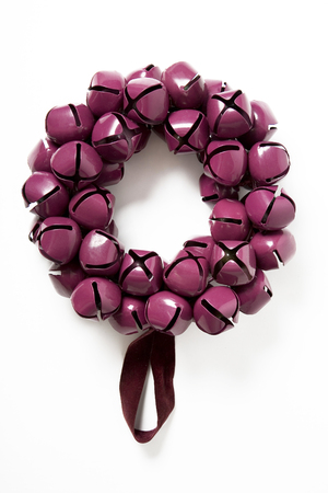 Purple color bells garland for christmas