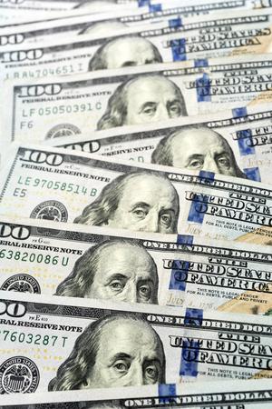 Hundred dollar bills background,close up