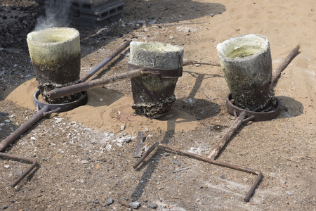Outdoor Gold casting process