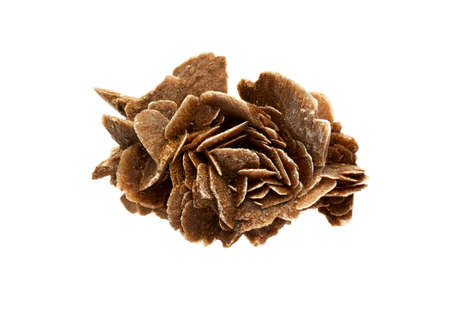 Brown crystal desert rose on a white background