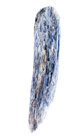 Kyanite blue silicate mineral on background