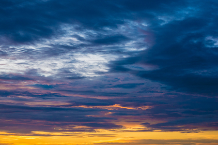 evening sky with beautiful clouds