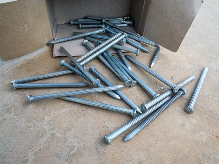 concrete tack on floor Stock Photo