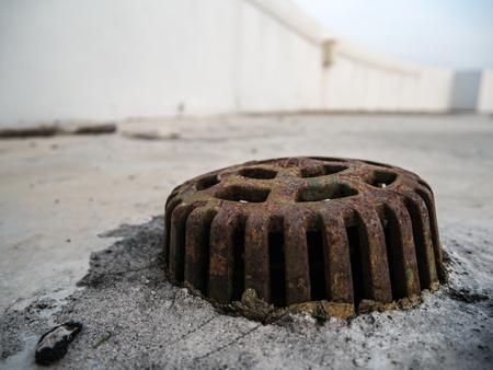 Rain drain on the deck