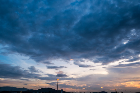 Sky with clouds in the evening