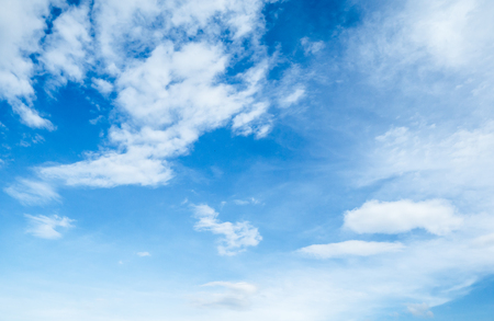 Blue sky with white clouds in the afternoon. Stock Photo