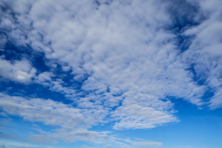 Blue sky with white clouds in the afternoon. Stock Photo - 91475391