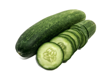 Cucumber on a white background with clipping path.
