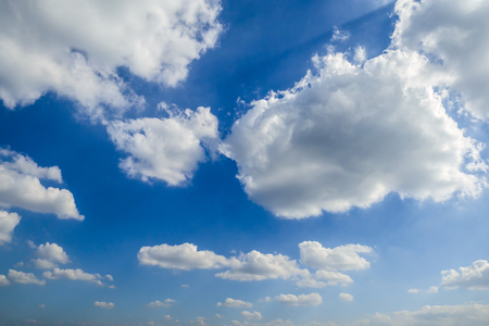 Blue sky with white clouds in the afternoon. Stock Photo - 91715497