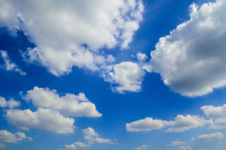 Blue sky with white clouds in the afternoon. Reklamní fotografie