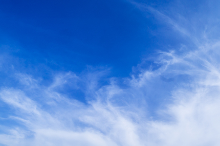 Blue sky with white clouds in the afternoon. Stock Photo - 91737551