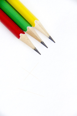 crayon on white Stock Photo