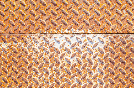 dirty sheet: colorful rusty steel floor Stock Photo