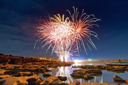 Fireworks on earth  photo