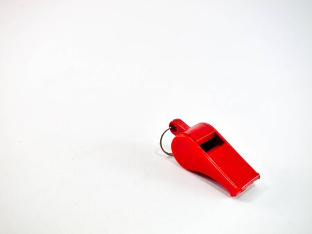 Red whistle is a white background.