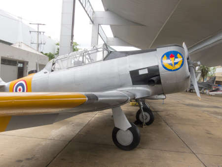 Royal Thai Air Force Museum BANGKOK,THAILAND-18 AUGUST 2018: The exterior of the aircraft has many large aircraft. To learn more closely. on,18 AUGUST 2018, in Thailand.