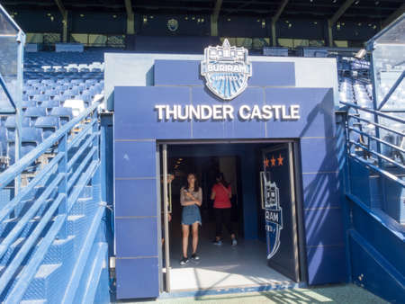 Chang Arena Buriram,Thailand -20 November 2018 :Chang Arena Unofficial Name Thunder Castle Stadium is a stadium built to house Buriram United Football Club.on 20 November 2018 in thailand.