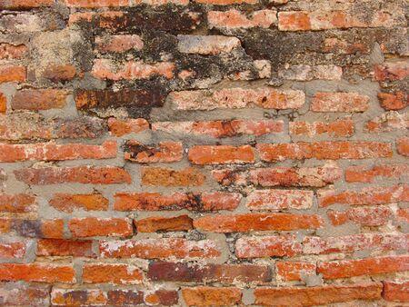 Red brick wall is an ancient wall. 版權商用圖片