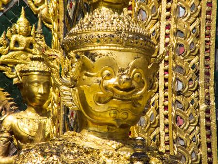 Demon Guardian in Wat Phra Kaew Bangkok Thailand.