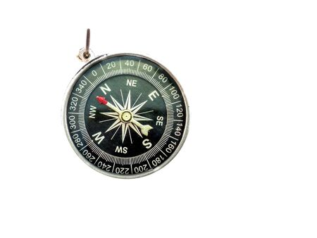Compass Black compass on a white background.