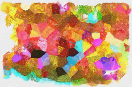 Illustration style background image, abstract pattern, various vibrant colors, oil painting pattern 版權商用圖片