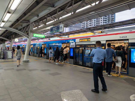 Chong Nonsi BTS Station Bangkok-15 September 2020:BTS station in the middle of the central business district of Bangkok. on Bangkok-15 September 2020. Redakční
