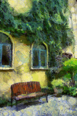 Italian Architecture in thailand Illustrations creates an impressionist style of painting.