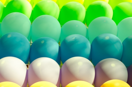colored balloons forming a bright background